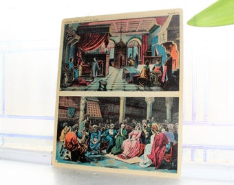Middle Ages Life In The Castle Card 1930s Comptons Picture Teaching Unit