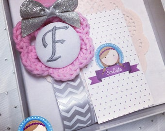 Monogrammed Pacifier Holder