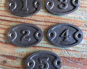 Cast Iron Number Set
