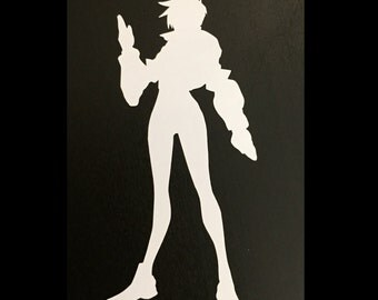 Tracer Overwatch Decal | Sticker | Vinyl | Car, Wall, Window or Laptop Decoration | Cute!