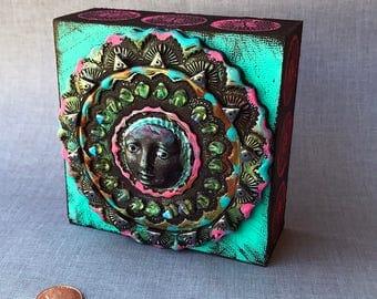 Mixed Media Polymer Clay Peace Mandala