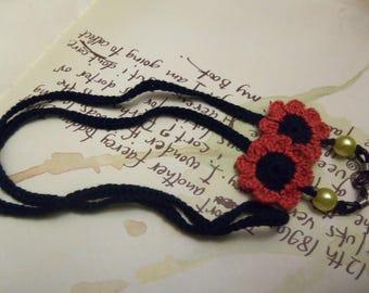 Handmade Crochet Flower Eyeglasses Strap or Holder. Handmade Eyeglasses Strap.