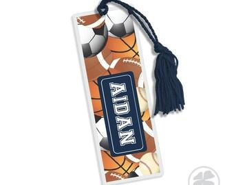 Sports - Bookmark, Personalized Kids Bookmark, Personalized Bookmark, Kids Bookmark