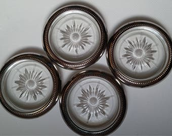 Silverplate and Glass Ash trays / Coasters by Wes Blackinton