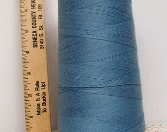 Coats American Cotton CONE THREAD Heavy Duty Tex 105 Saxe Blue Gray USA Sewing Jewelry Tassels Leather Craft