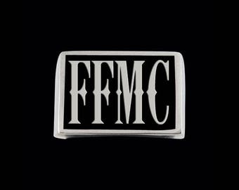 Stainless Steel FFMC Letter Ring - Free Re-Size/Shipping