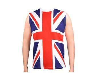 Men's British Union Jack UK Flag Tank Top