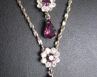 Lavalier Y Amethyst Silver Necklace