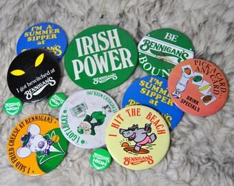 80s Bennigans Buttons
