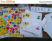 Etsy On Sale Preschool,Kindergarden Early Learning Fun Home Kit,2 Blues Clues Wipe Off Workbooks,Crayons,Velcro Matching  Numbers,Colors,Sha