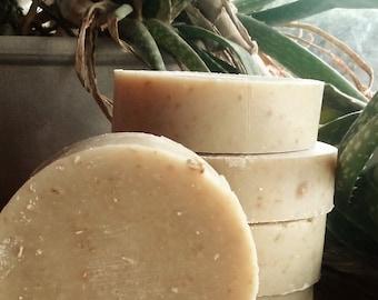 Bliss Aloe & Oatmeal ALL-NATURAL Bulk Soap and Shampoo, lavender, palmarosa, bergamot homemade soap, palm-free, vegan, cold-processed soap