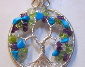 Tree of Life, Tree of Life Pendant, Gemstone Necklace