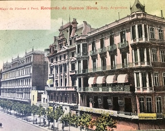 Handsome Edwardian Era Postcard of the Avenida de Mayo, Buenos Aires-1906