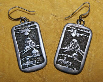 HOPI STORYTELLER EARRINGS c1950