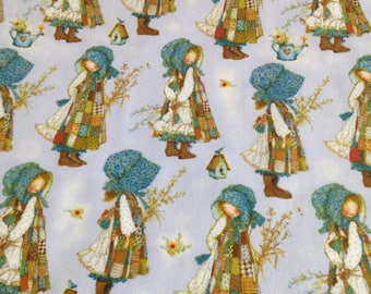 Holly Hobby Fabric Holly Hobby vintage, blue bonnet, Cordinant By The Yard Flannel