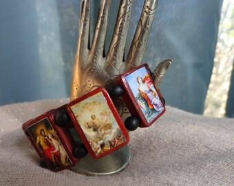 Zeus Jupiter Wooden Devotional Bracelet. Pagan Polytheist Devotional Bracelet