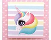 Illustrated card, Digital Illustration, Unicorn