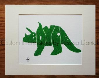 Dinosaur  Name Art - Personalized