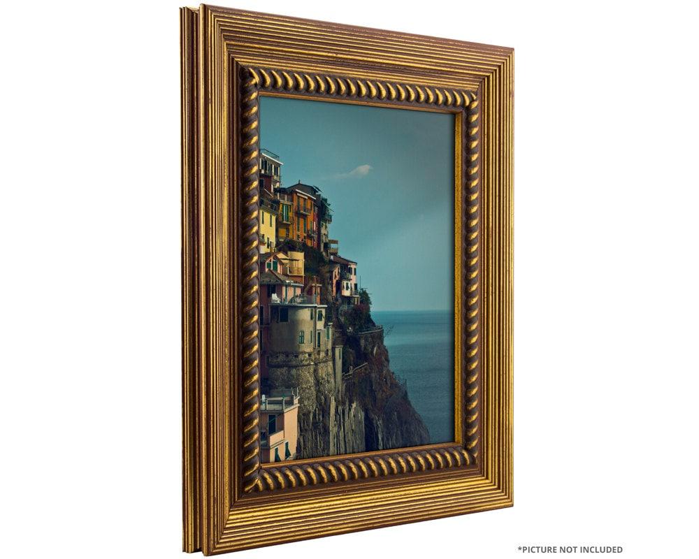 craig frames 12x12 inch rustic antique gold picture frame. Black Bedroom Furniture Sets. Home Design Ideas