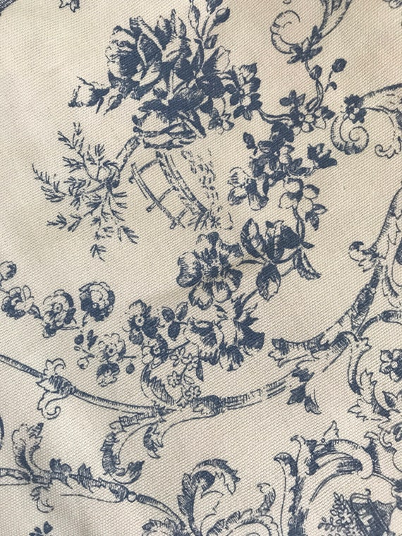 vintage home decor fabric vintage gray blue toile home decor fabric from 11797