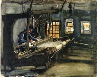 Van Gogh Reproduction.  The Weaver, 1884 by Vincent van Gogh, Fine Art Print.