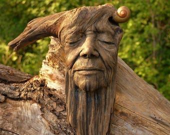 Reserved for Kari, May 2 of 3, Grandmother, Teach Me, Wooden Foest Sculpture by Debra Bernier, ShapingSpirit