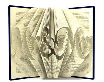 Mr and Mrs Book Folded PDF Pattern