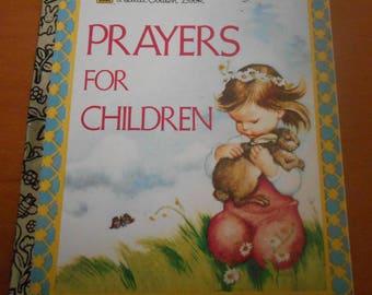 "Vintage Little Golden Book ""Prayers For Children"" Illustrated by Eloise Wilken"