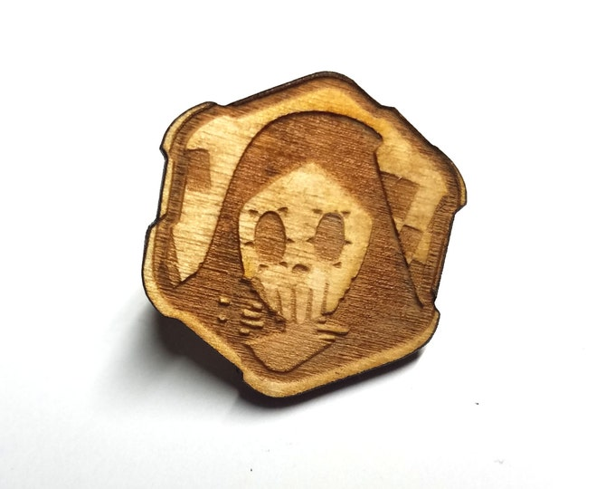 Overwatch Sombra Pin   Laser Cut Jewelry   Wood Accessories
