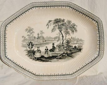 William Adams and Son Ironstone Platter