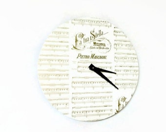 Unique Wall Clock,   Sheet Music,  Decor and Housewares, Home Decor, Home and Living