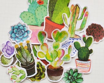 Pot Plants Stickers Planner Stickers- Decorative Alien Ideas Stickers