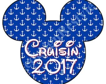 Mickey Mouse Cruisin' 2017 Iron-On Digital File