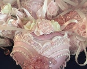 """Shabby Decorated Ornaments """"Reserved for Debbie"""""""