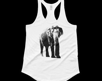 Elephant Tank Top, Elephant Shirt, Animal Shirt, Animal Tank Top, Wildlife Tank Top,