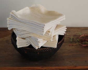 100% Organic Cotton Wash Cloth, Birdseye, -- Choose Your Quantity and Size