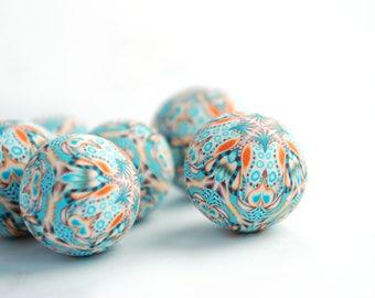 Polymer Clay Beads, Kaleidoscope Beads, Big Beads, Handmade Beads, Jewelry Supplies, Beading Supplies