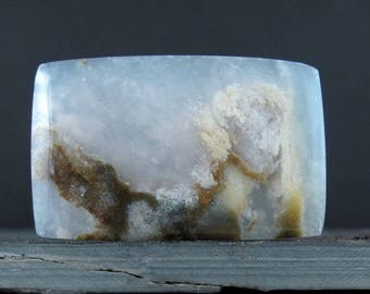 Gorgeous Rectangular   moss agate cabochon , Natural stone, Jewelry making supplies S7740