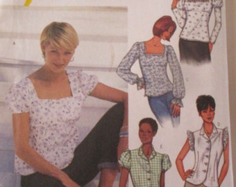 Plus Size Blouse Butterick Pattern 3524 for Sizes -18-20-22-