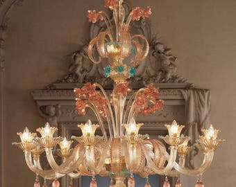 Venetian Classic Murano Glass Chandelier