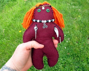 The Morrigan Poppet - Voodoo Doll, Juju Doll, Spirit Doll, Magic Doll, Goddess Doll