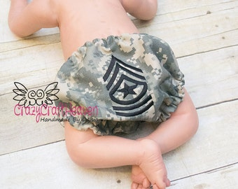 Army, Rank Diaper, Rank bloomers, Military diaper cover, Army, Marine, Air fore, Acu diaper cover, multi cam, Navy bloomers