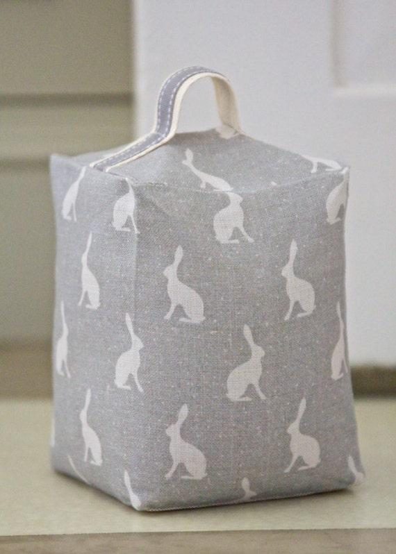 Door Stop Peony Amp Sage Mini Hops Fabric Swedish Grey
