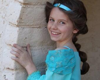 "Jasmine Disney Princess inspired No Slip Headband 5/8"""