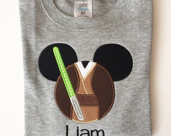 Jedi Mickey applique shirt