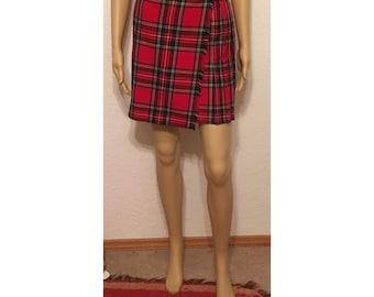 Vintage Tartan plaid skirt/kilt