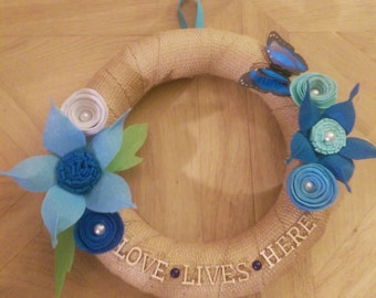 Love Lives Here Wreath
