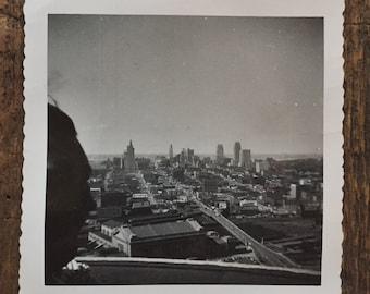 Original Vintage Photograph City From Afar