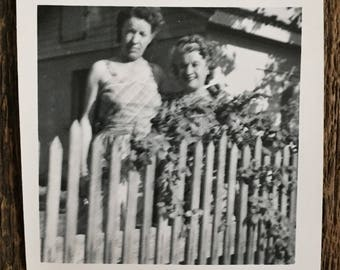 Original Vintage Photograph Stories Over the Fence