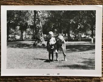 Original Vintage Photograph Boys Time 1959